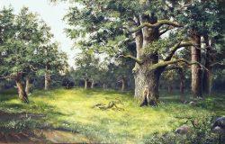 لوحة أشجار